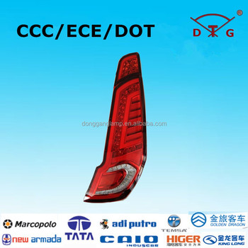 12-13 meters buses rear lamp 2016 new led bus tail lamp