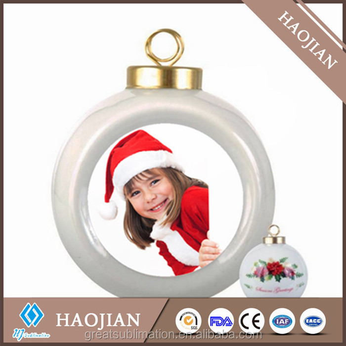 Ceramic Ball Ornaments With Sublimation Aluminum Sheet