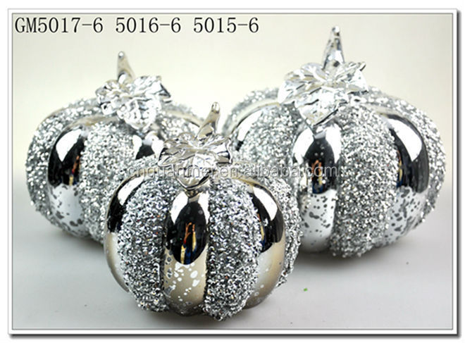 wholesale halloween decoration glass pumpkin