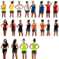 Ladies X-back singlet plain