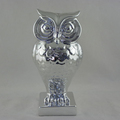 Large owl shape ceramic flower vase in sliver