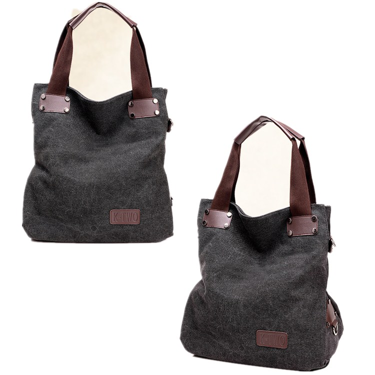New canvas fashion multi-functional handbag canvas tote bag casual women shoulder bag