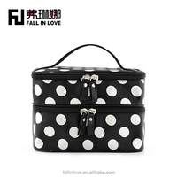 lovely Dot pattern women make-up bag beauty bag for ladies travel cosmetic bag