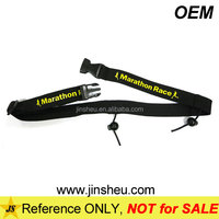 Cheap outdoor goods elastic custom logo printed race number belts