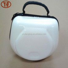 OEM portable Eva bluetooth headphone case carrying white headphone case