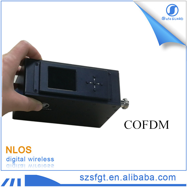 COFDM NLOS portable digital audio video transmitter via microwave radio
