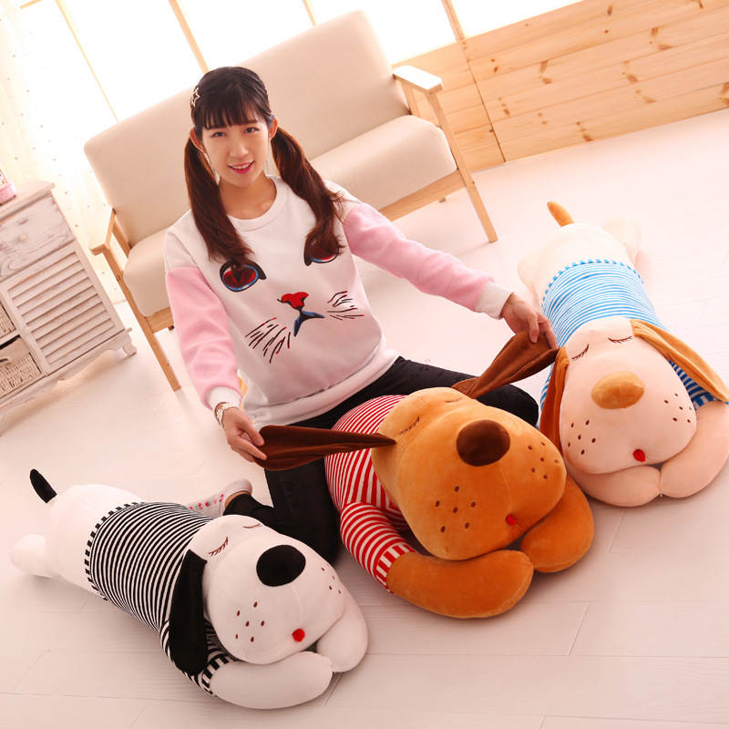 super soft plush,Plush Material and dog ,plush toy Type round plush animal pillow toy