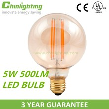 Dimmable indoor decorative e27 e26 5w 500lm led bulb lighting