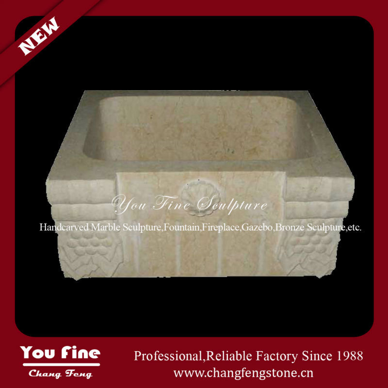 Hand Carved Indoor Used Natural Stone Small Corner Wash Basin