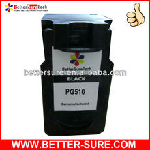 Hot high quality Pg510 compatible black ink cartridge for canon printer