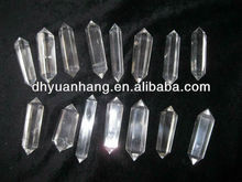Natural clear quartz crystal 6 sides points wholesale,double terminated crystal point,quartz crystal points wholesale