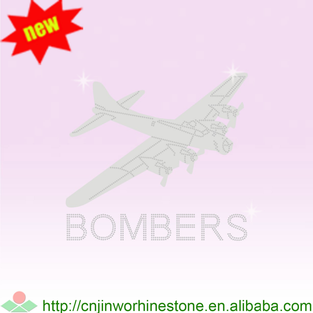 plane Rhinestone Iron Ons for T Shirt Design FY80 (13)