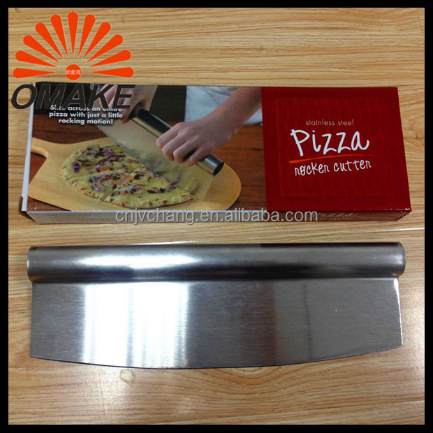 2016 Promotional Price Sharpen Stainless Steel Blade Pizza Cutter, Rocker Knife, Pizza Accessory