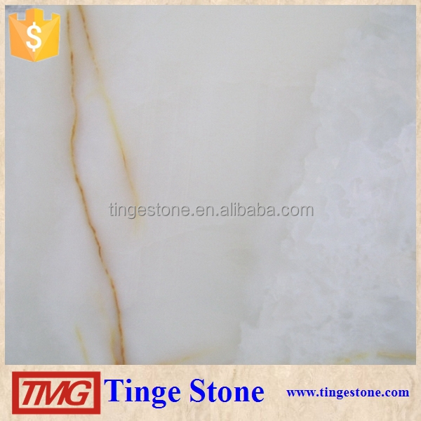 Elegant white Onyx Marble Tile For Building Design