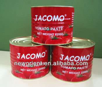 Jacomo Brand 70g to 4500g Red Tomato Paste
