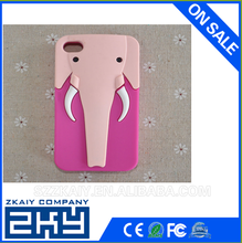 Multi-color Animal shaped Elephant Silicone cell phone case for iphone 4/4s
