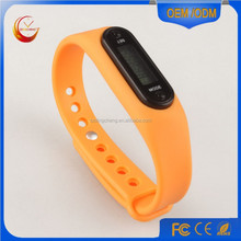 Body building fitness step counter, pedometer with silicone watch wristband