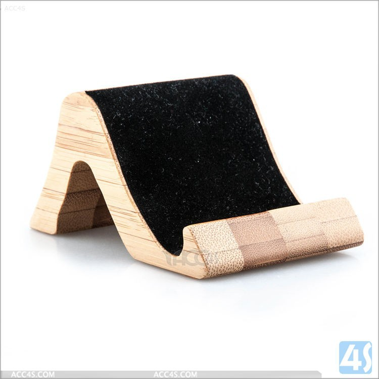 Fresh design wood display stand for mobile phone