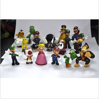 "DIHAO 1.5~2.5"" A Super Mario Bros Lot 18 pcs Action Figure Cute Doll New"