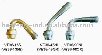 Bent metal type-tire valve extension VE36 series