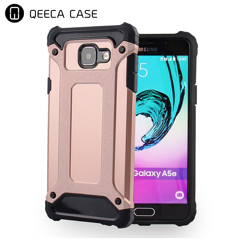 Slim Armor case for samsung galaxy A3 A320 / A5 / A7 2017 Case Rugged shockproof TPU PC case soft rubber back cover hybrid combo