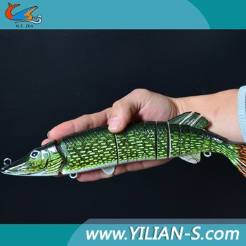 2015 5'' 8'' 12'' Chinese New fishing tackle hard multi jointed fishing lures swimbait pike musky lures bait