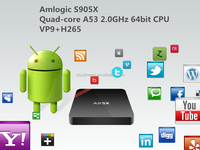 pre order Amlogic S905X Quad core A53 2.0GHz 64bit Android TV BOX