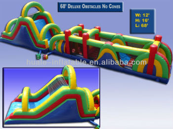 High Quality No Cones Inflatable Children Game Giant Inflatable Obstacle Course Game for Sale