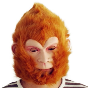 Chinese realistic cartoon character Monkey King head silicone mask