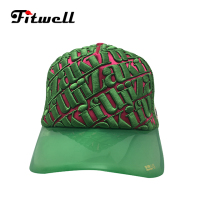 wholesales 3D embroidered baseball cap trucker mesh hats with clear plastic brim