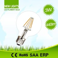 New COB G80 4W LED Filament Bulb globe lamp E26 E27 with Low Power consumption, energy saving