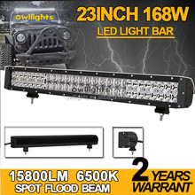 Owllights High Quality Double Row Waterproof IP68 23 inch 168w 5D LED Light Bar 4x4 Offroad 12 Volt LED Light Bar