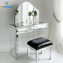 manufacturer wholesale curved mirror bedroom furniture mirrored vanity dresser