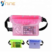 Waterproof Waist Bag Case Pouch Clear pvc sports waist bag / transparent belt