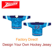 Top quality sublimation usa navy camo ice hockey jerseys