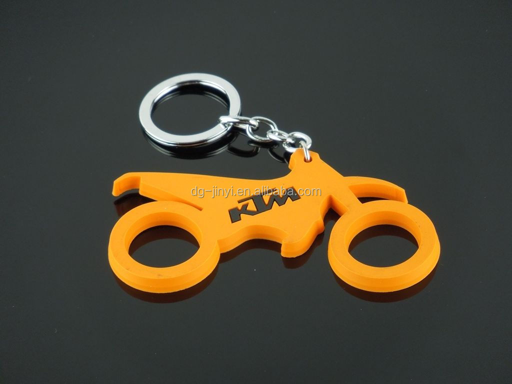 high quality motorcross motorcycle pvc keychain keyring for KTM