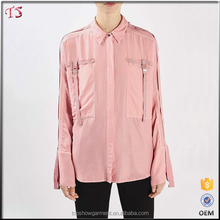China OEM supplier most popular products cotton silk latest new design model shirts for women
