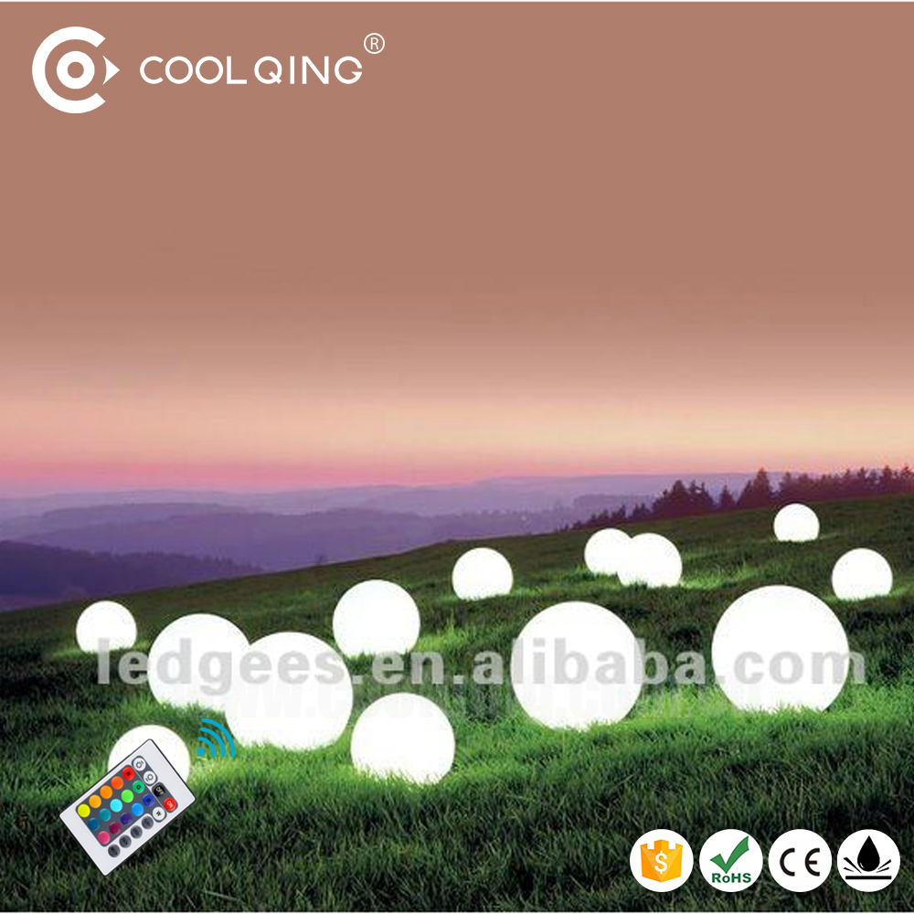 Coolqing 16RGB Color Changing Ball LED Flashing Golf Ball light Outdoor