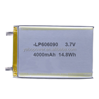3.7v lipo battery 4000mah lithium polymer battery for power bank gps tracker mp3 mp4