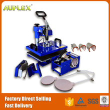 Auplex combo t-shirt .bill shaking head manual heat transfer press machine