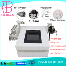 Promotion 32 Khz 4D cavitation, Fractional RF, 650nm lipo laser slimming multifunction beauty machine