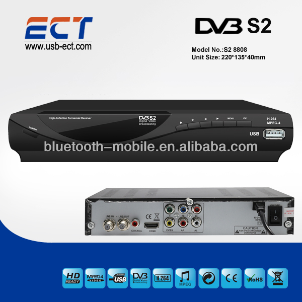 DVB-S2 HD 1080p <strong>satellite</strong> receiver, receivable from C/Ku band <strong>satellites</strong>, MPEG4/H.264 DVB-S2 set top box.
