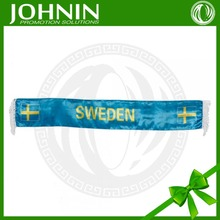 Wholesale 20*120CM High Quality Fan Gift White Fringe Sweden Fan Scarf