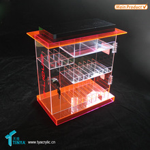 Golden supplier best offer liquid and acrylic display case with lock acrylic counter electronic cigarette display