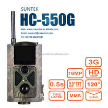0.5s Time 16MP 1080P outdoor hunting trail camera supports video and time lapse 3G hunting camera HC-550G