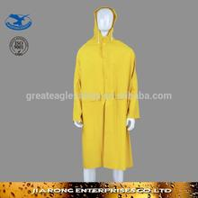 knee length mens raincoat with multi pockets-RC002