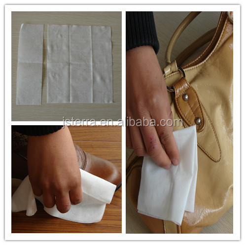 2014 new product Leather cleaning wet wipes for shoes