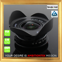 Mirrorless camera prime 8mm F3.8 M43 fish eye lens