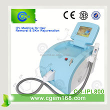 CG-IPL800 Professional remove wrinkles smooth face remove extra hair for hair removal and skin rejuvenation