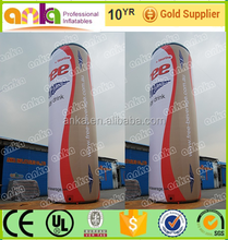 Bottle type inflatable red bull can size for advertising
